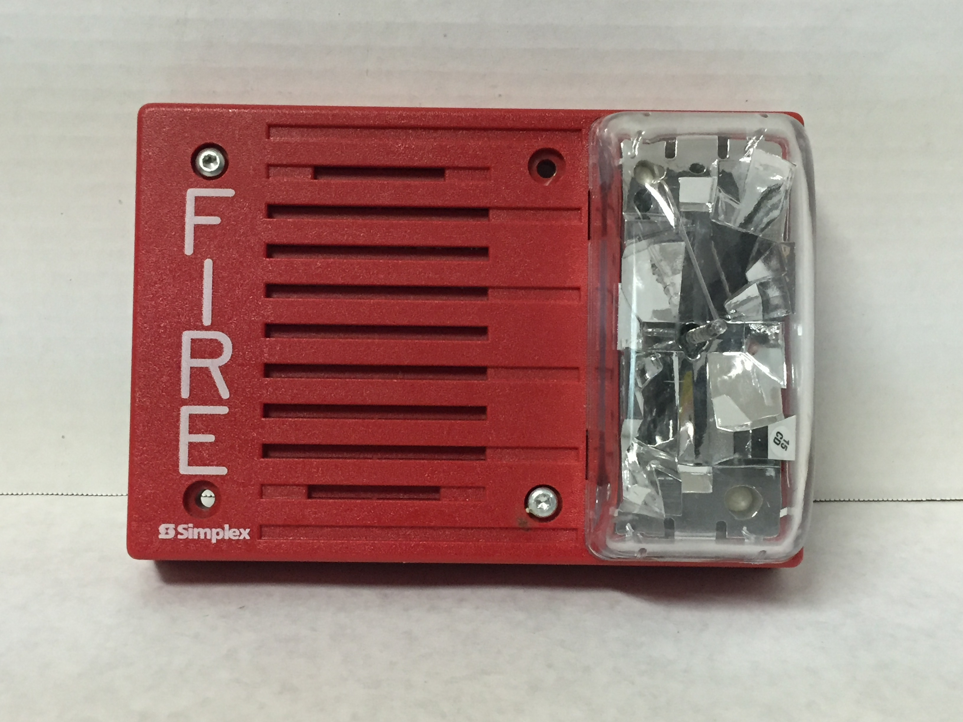 Simplex 4903 9236 on federal signal fire alarm